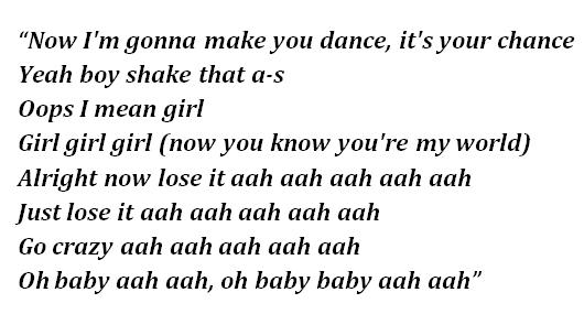 "Lyrics of ""Just Lose It"""