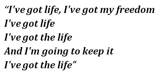 "Lyrics of Nina Simone's ""Ain't Got No, I Got Life"""