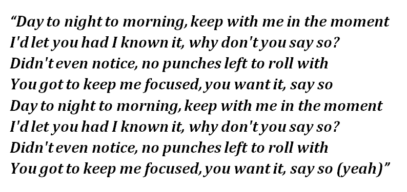 """Lyrics of Doja Cat's """"Say So"""""""
