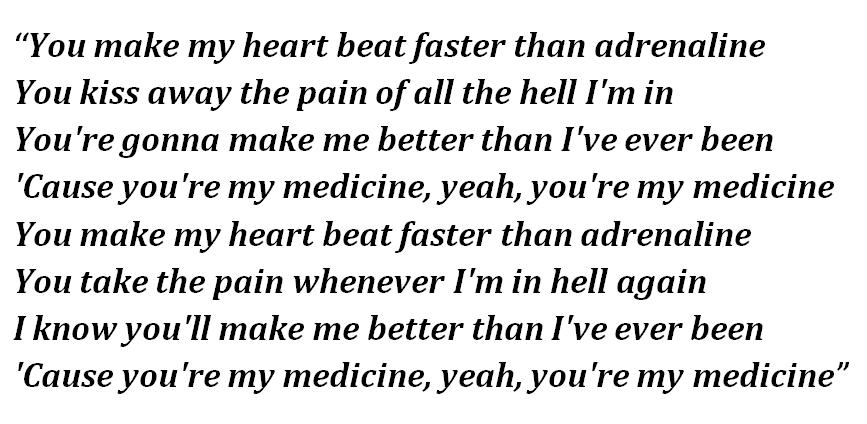 """Lyrics of """"Medicine"""""""