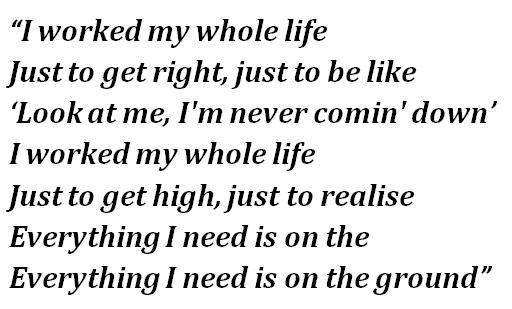"Lyrics of ""On the Ground"""