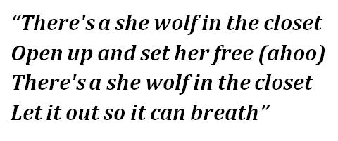 """Lyrics of """"She Wolf"""""""
