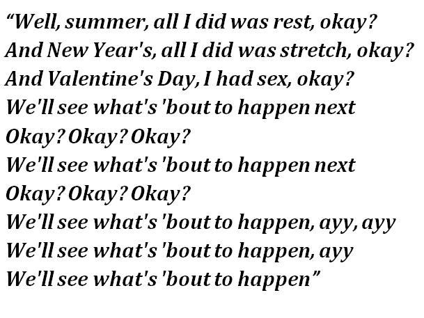 "Lyrics of ""What's Next"""