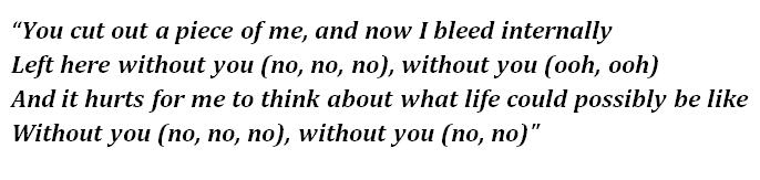 """Lyrics of """"Without You"""""""