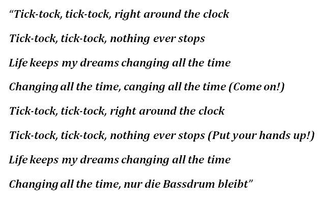 """Bassdrum"" Lyrics"