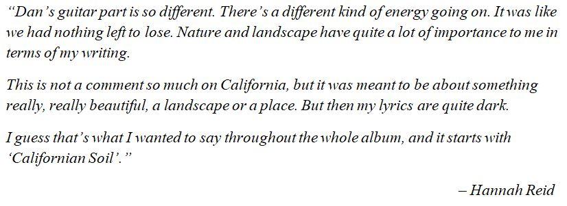 "London Grammar's Hannah Reid talks about ""Californian Soil"""