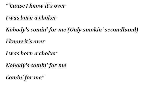 """Choker"" Lyrics"