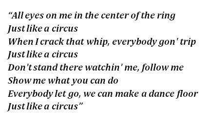 """Lyrics of """"Circus"""""""
