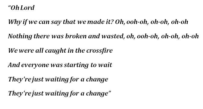 "Lyrics to ""Crossfire"""
