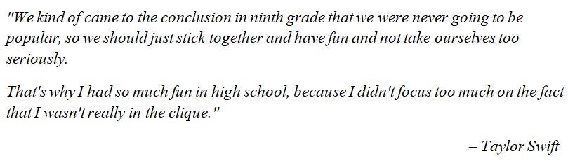 "Taylor Swift talks about ""fifteen"""