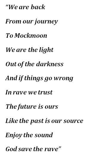 """Lyrics to """"Futurum Est Nostrum"""""""