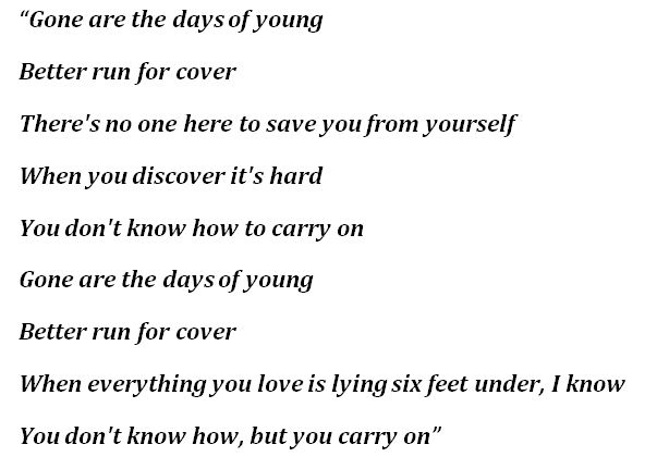 """Lyrics for """"Gone Are The Days"""""""