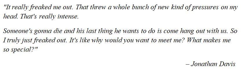 "Korn's Jonathan Davis talks about ""Justin"""