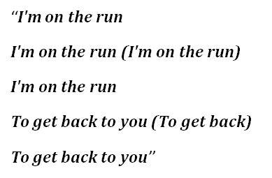 "Lyrics to ""Love Race"""