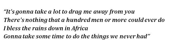 """Chorus of """"Africa"""""""