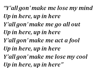 """Lyrics of """"Party Up (Up In Here)"""""""
