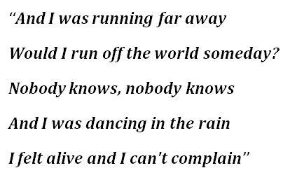 "Lyrics to ""Runaway"""