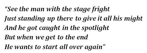 "Lyrics of ""Stage Fright"""