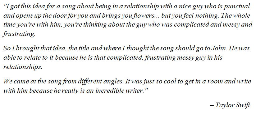 """Taylor Swift explains """"The Way I Loved You"""""""