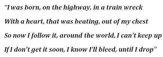 "Lyrics for ""Trainwreck 1979"""