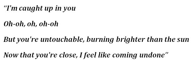 """Lyrics for """"Untouchable"""""""