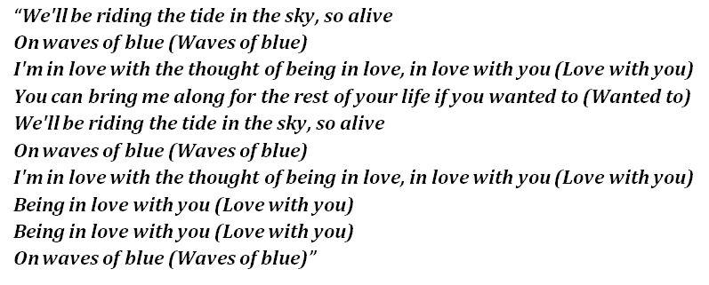 "Lyrics of ""Waves of Blue"""