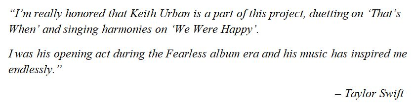 """What Taylor Swift said about """"We Were Happy"""""""
