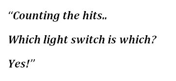 "Lyrics to ""Which Light Switch Is Which?"""