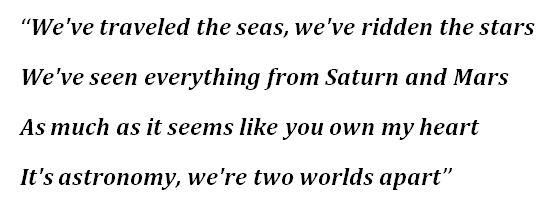 "Lyrics to ""Astronomy"" by Conan Gray"