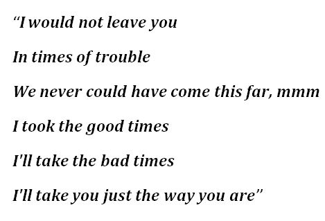 """Lyrics to Billy Joel's """"Just the Way You Are"""""""