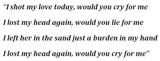 """Burden in My Hand"" Lyrics"