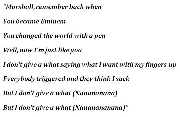 """Dear Slim"" Lyrics"