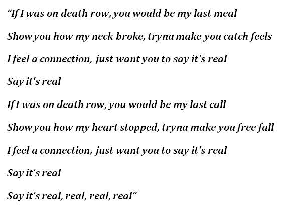 "Lyrics to ""Death Row"""