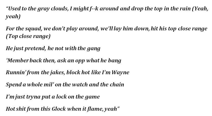 "Lyrics to ""Gang Gang"""