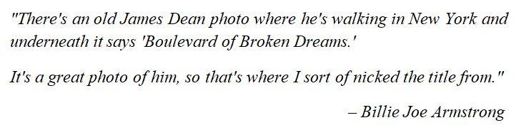 "Green Day's Billie Joe Armstrong discusses ""Boulevard of Broken Dreams"""