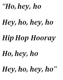 "Lyrics to ""Hip Hop Hooray"""