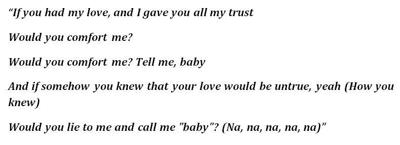 """If You Had My Love"" Lyrics"