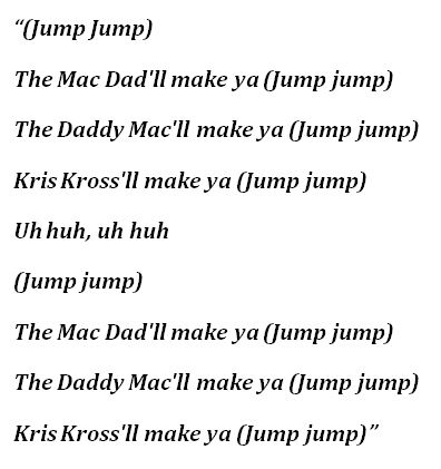 "Lyrics for ""Jump"""