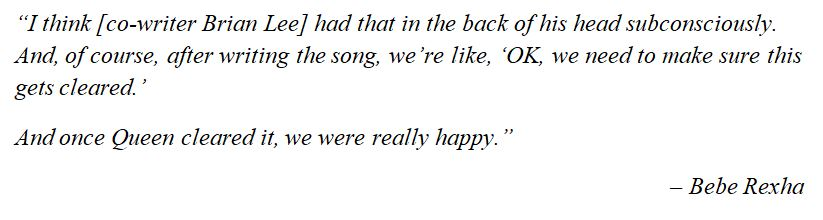 """What Bebe Rexha said about """"Mama"""""""