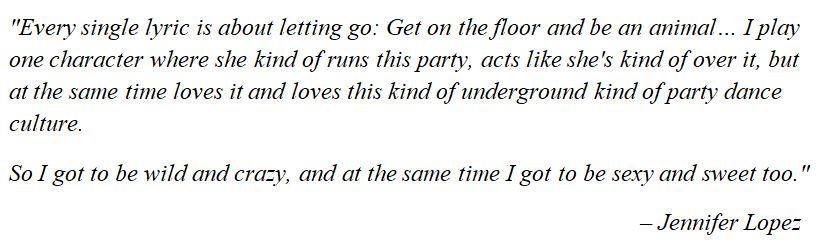 "Jennifer Lopez discusses ""On The Floor"""