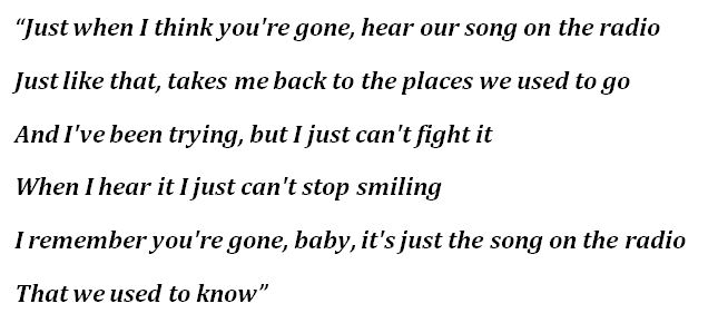 """Our Song"" Lyrics"