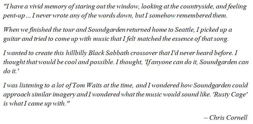 "Soundgarden's Chris Cornell explains ""Rusty Cage"""