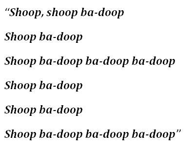 """Lyrics for """"Shoop"""""""