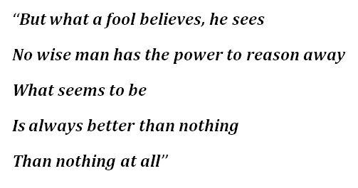 """What a Fool Believes"" Lyrics"