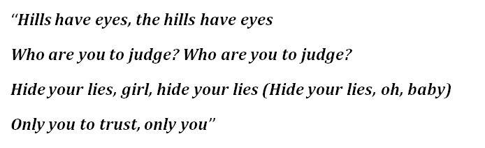"""The Hills"" Lyrics"