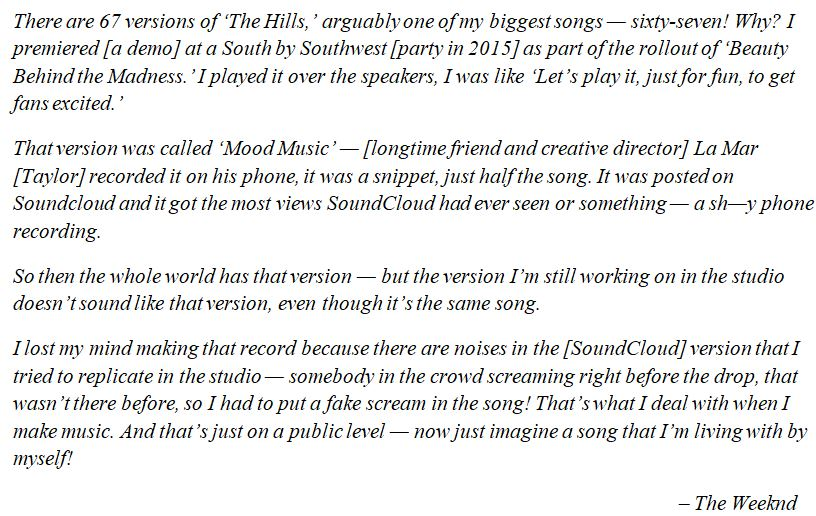 """The Weeknd discusses """"The Hills"""""""