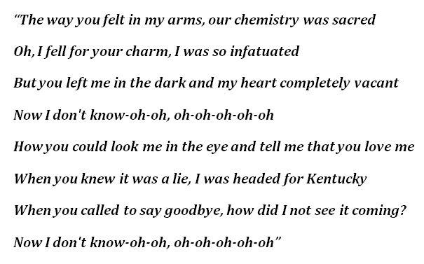 "Lyrics to ""The Way You Felt"""