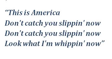 "Lyrics of ""This Is America"""