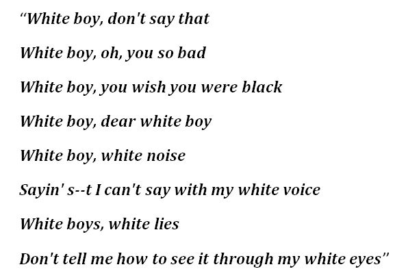 """Tom MacDonald's """"Whiteboy"""" Lyrics"""