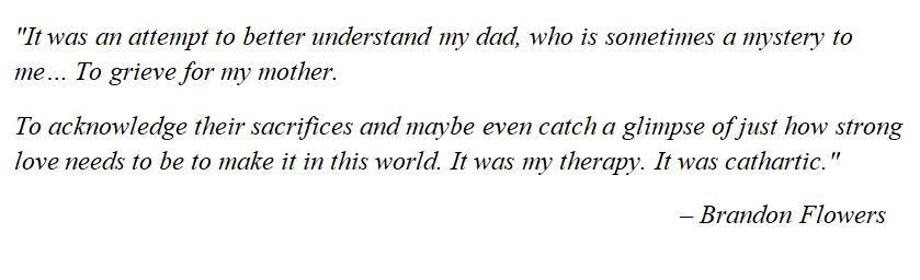 "Brandon Flowers explains ""A Dustland Fairytale"""
